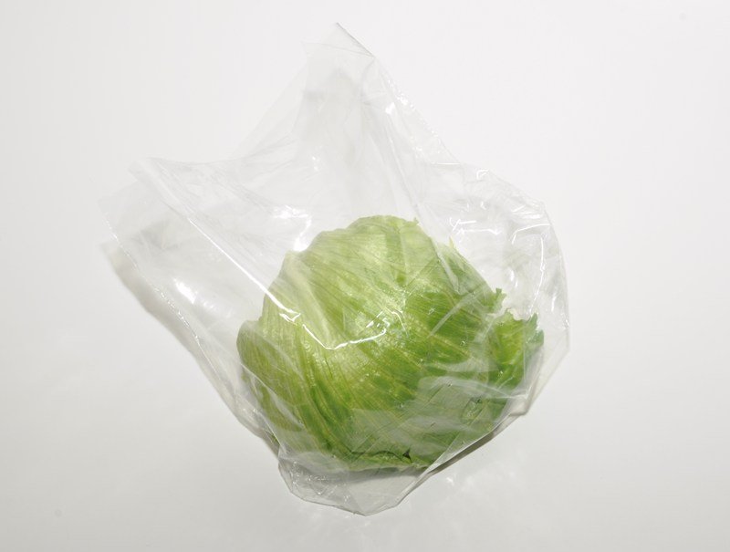 The rounded bottom wicketted lettuce bag has been designed to match the shape of a round lettuce, by removing the bottom corners of the bag the shape of the lettuce matches that of the bag.